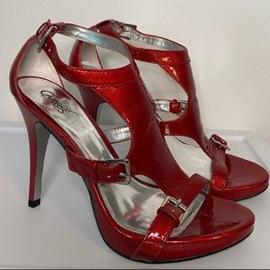 Carlos Santana Red Heeled Sandals Size 8.5 - #3C